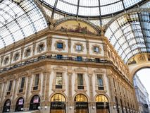 Wnętrze Galleria Vittorio Emanuele II w Mediolan zdjęcie stock