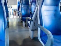 wnętrze kolejowy samochód osobowy w Włochy obrazy stock