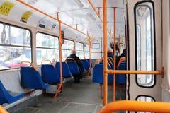 Wnętrze miastowy autobus fotografia stock