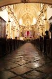 Wnętrze stylu kościelny dziedzictwo Hiszpańska konkieta w Meksyk obrazy royalty free