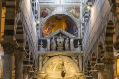 Wnętrza i szczegóły Pisa katedra, Pisa, Włochy Zdjęcie Stock