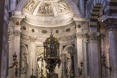 Wnętrza i szczegóły Pisa katedra, Pisa, Włochy Obraz Stock