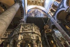 Wnętrza i szczegóły Pisa katedra, Pisa, Włochy Obraz Royalty Free