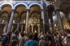 Wnętrza i szczegóły Pisa katedra, Pisa, Włochy Obrazy Stock
