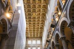 Wnętrza i szczegóły Pisa katedra, Pisa, Włochy Zdjęcia Royalty Free
