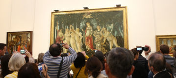 Wnętrza i szczegóły Uffizi, Florencja, Włochy Zdjęcia Royalty Free
