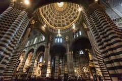 Wnętrza o Siena Duomo Katedralni di Siena, średniowieczny kościół, Ja Fotografia Stock