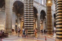Wnętrza o Siena Duomo Katedralni di Siena, średniowieczny kościół, Ja Zdjęcia Royalty Free