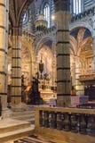Wnętrza o Siena Duomo Katedralni di Siena, średniowieczny kościół, Ja Obraz Stock