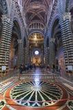 Wnętrza o Siena Duomo Katedralni di Siena, średniowieczny kościół, Ja Obrazy Stock