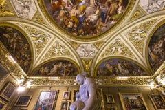 Wnętrza Palazzo Pitti, Florencja, Włochy Obrazy Royalty Free