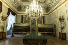 Wnętrza Palazzo Pitti, Florencja, Włochy Zdjęcie Stock