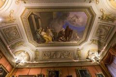 Wnętrza Palazzo Pitti, Florencja, Włochy Zdjęcia Royalty Free
