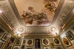 Wnętrza Palazzo Pitti, Florencja, Włochy Obrazy Stock