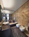 Wnętrza, piękna łazienka zdjęcia royalty free