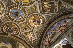 Wnętrza Raphael pokoje, Watykański muzeum, Watykan Zdjęcie Stock