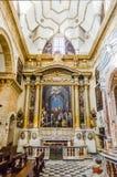 Wnętrza Sant'Agata katedra w Gallipoli, Włochy Obraz Stock