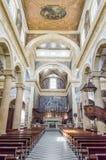 Wnętrza Sant'Agata katedra w Gallipoli, Włochy Zdjęcie Stock