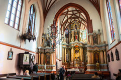 Wnętrza St Anne kościół w Vilnius Fotografia Stock