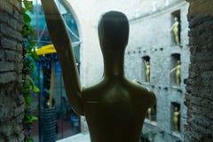 Wnętrza z rzeźbami i sztuk pracy w Dali muzeum Zdjęcia Stock