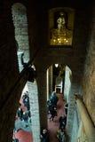 Wnętrza z rzeźbami i sztuk pracy w Dali muzeum Fotografia Royalty Free