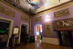 Wnętrza z sławnymi pracami artysta w Dali muzeum Zdjęcia Stock