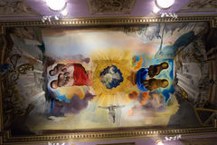Wnętrza z sławnymi pracami artysta w Dali muzeum Zdjęcie Royalty Free