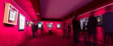 Wnętrza z sławnymi pracami artysta w Dali muzeum Zdjęcie Stock