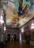 Wnętrza z sławnymi pracami artysta w Dali muzeum Obrazy Royalty Free