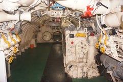 Wnętrze łódź podwodna Fotografia Royalty Free