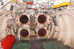 Wnętrze łódź podwodna Zdjęcia Stock