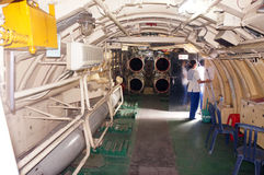 Wnętrze łódź podwodna Zdjęcia Royalty Free