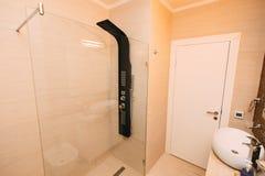 Wnętrze łazienka Wewnętrzny projekt Łazienka w a Zdjęcie Stock