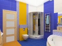 wnętrze łazienki royalty ilustracja