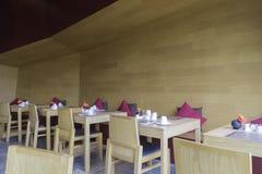 Wnętrze łomota teren ustawiającego w drewnianym temacie Fotografia Royalty Free