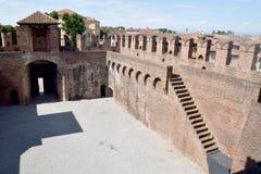 06 wnętrze Średniowieczny kasztel Soncino, Cremona, Włochy - Obrazy Royalty Free