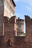 04 wnętrze Średniowieczny kasztel Soncino, Cremona, Włochy - Obraz Royalty Free