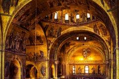 Wnętrze Świątobliwa Mark ` s bazylika w Wenecja Zdjęcia Stock