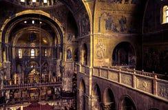 Wnętrze Świątobliwa Mark ` s bazylika w Wenecja Zdjęcia Royalty Free