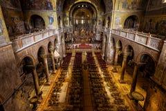 Wnętrze Świątobliwa Mark ` s bazylika w Wenecja Obrazy Stock