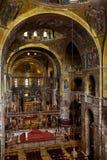 Wnętrze Świątobliwa Mark ` s bazylika w Wenecja Zdjęcie Stock