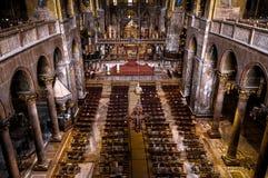 Wnętrze Świątobliwa Mark ` s bazylika w Wenecja, Włochy Fotografia Stock