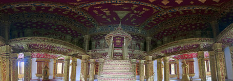 Wnętrze świątynny Haw Pha uderzenie obraz stock