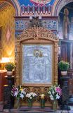 Wnętrze Świętej trójcy katedra Sibiu miasto w Rumunia Zdjęcia Royalty Free