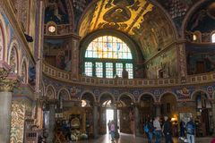 Wnętrze Świętej trójcy katedra Sibiu miasto w Rumunia Obrazy Royalty Free