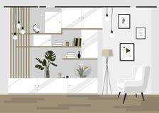 Wnętrze żywy pokój w jaskrawych kolorach fotografia stock