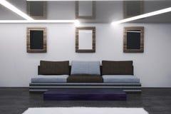Wnętrze żywy pokój w technika stylu ilustracja wektor
