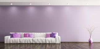 Wnętrze żywy pokój z kanapy 3d renderingiem ilustracja wektor