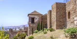Wnętrze Alcazaba Malaga, Hiszpania obrazy stock