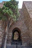 Wnętrze Alcazaba Malaga, Hiszpania obraz royalty free